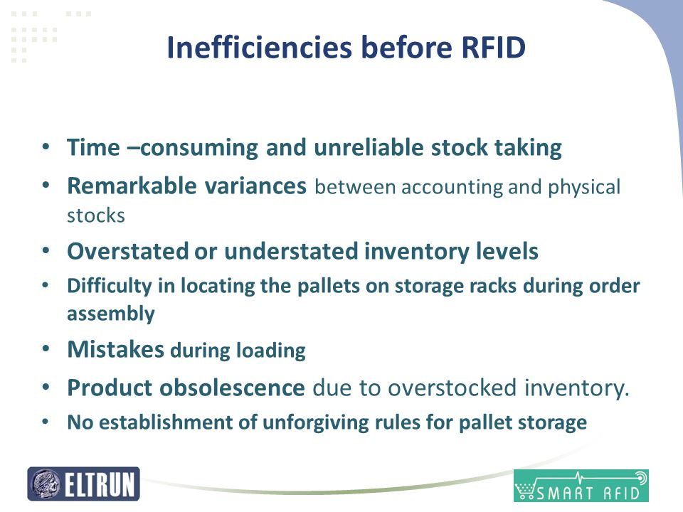 Inefficiencies before RFID