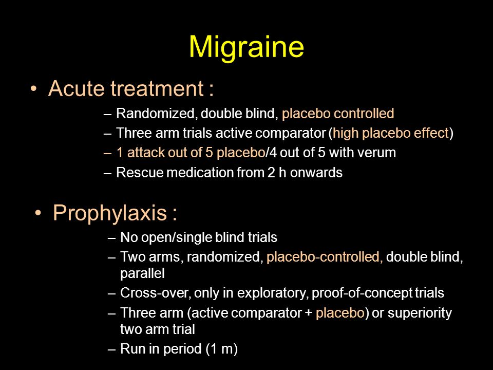 Migraine Acute treatment : Prophylaxis :