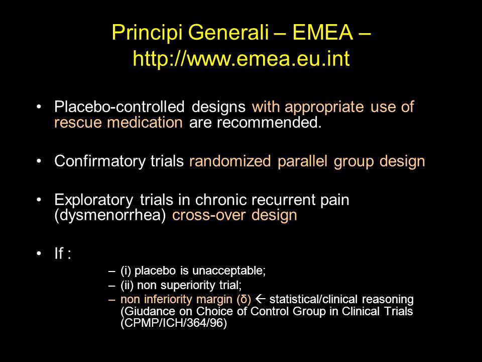 Principi Generali – EMEA – http://www.emea.eu.int