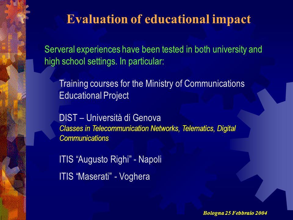 Evaluation of educational impact