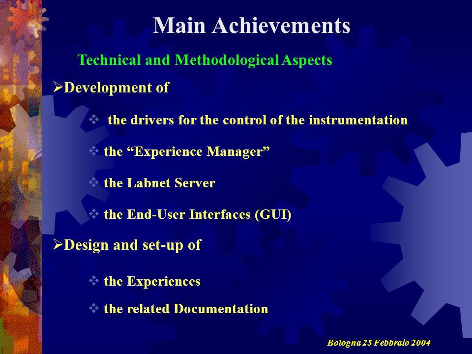 Technical and Methodological Aspects