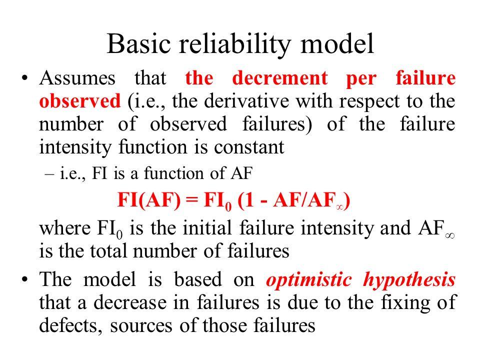 Basic reliability model