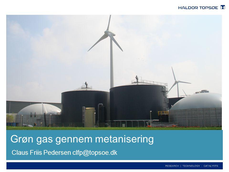 Grøn gas gennem metanisering