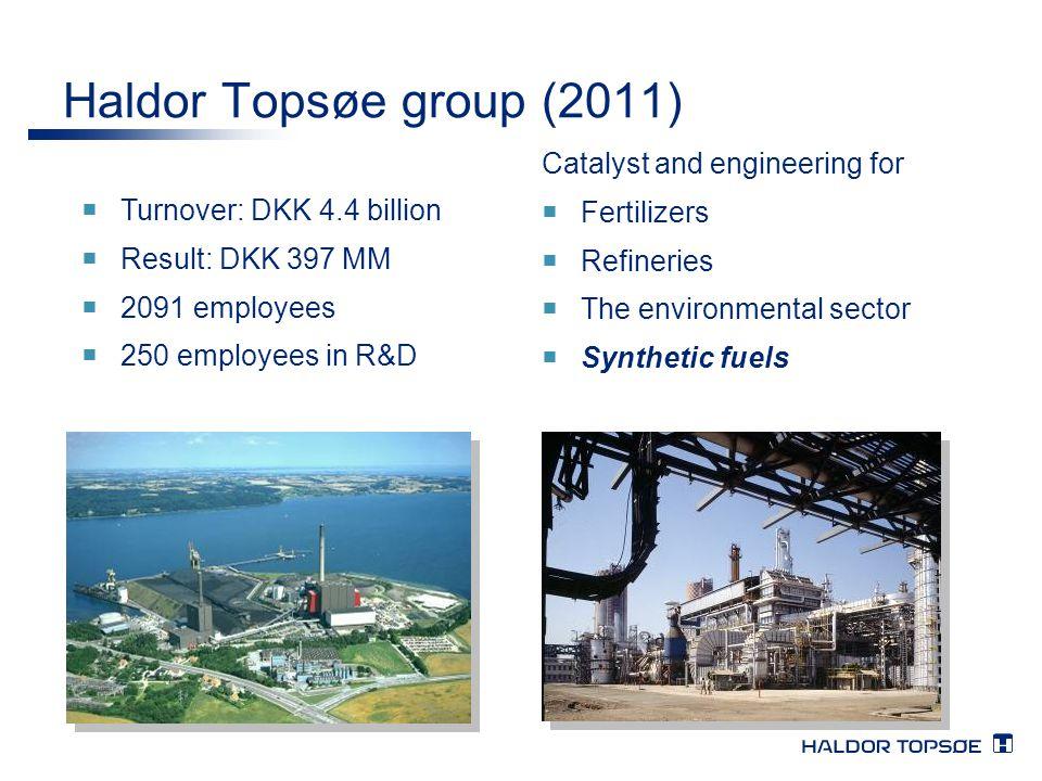 Haldor Topsøe group (2011) Catalyst and engineering for Fertilizers