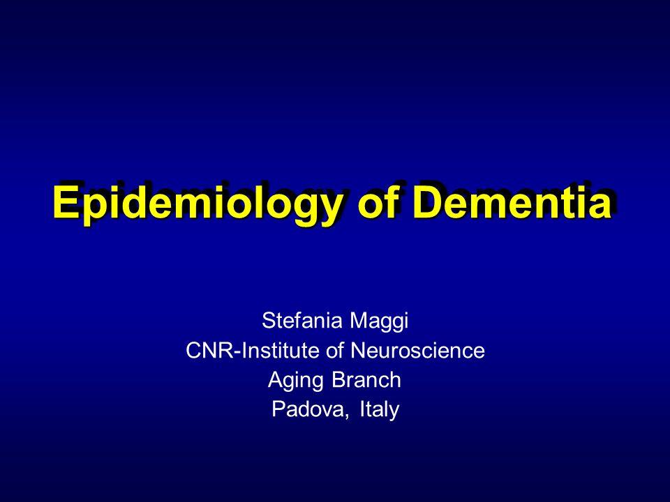 Epidemiology of Dementia