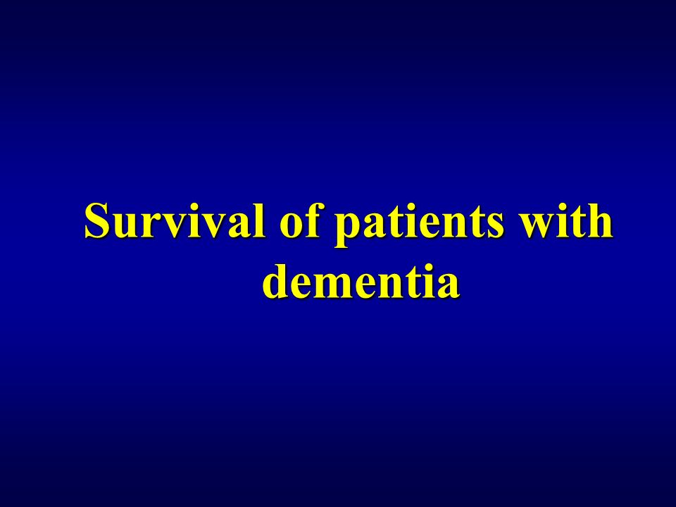 Survival of patients with dementia