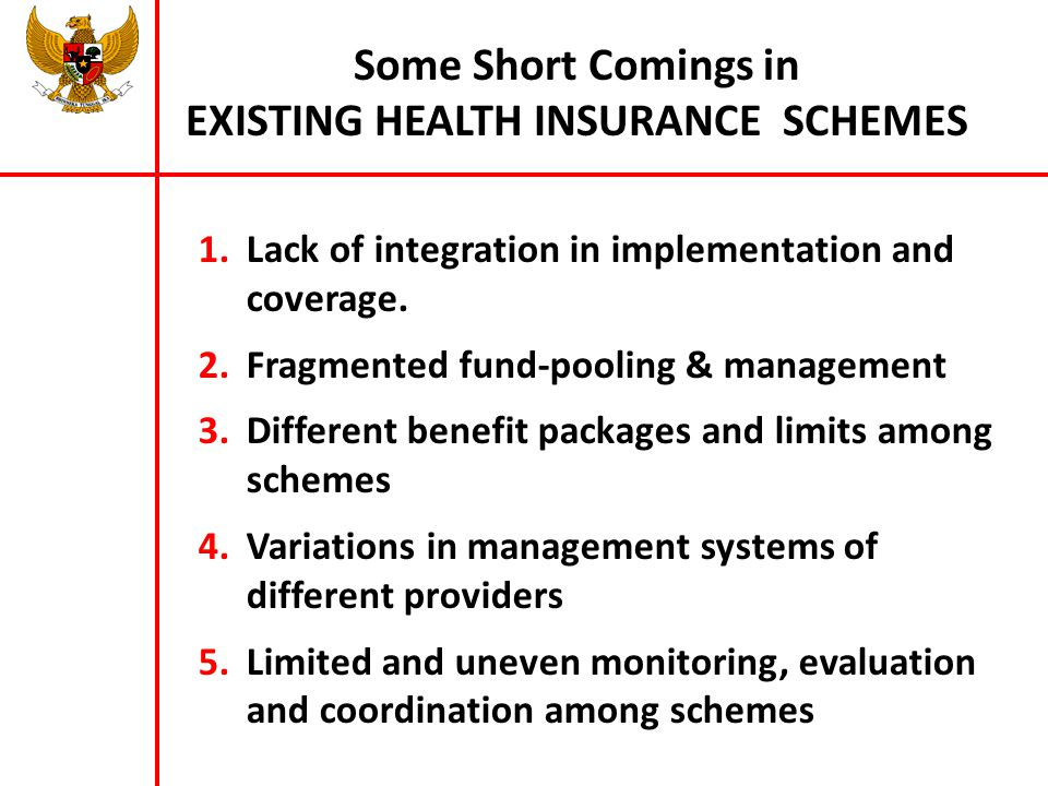 Some Short Comings in EXISTING HEALTH INSURANCE SCHEMES