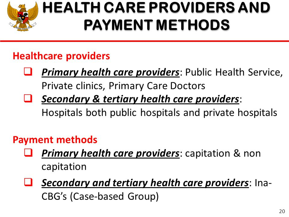HEALTH CARE PROVIDERS AND