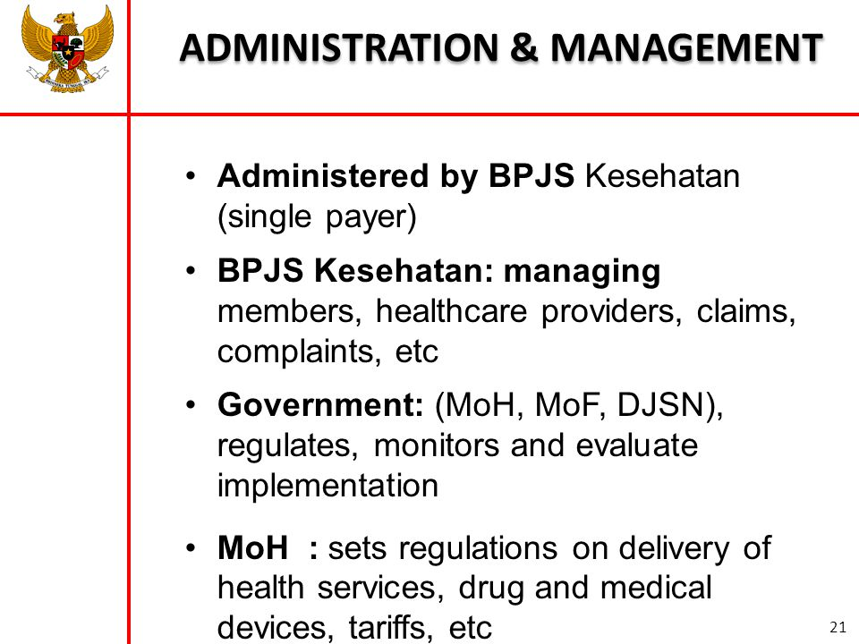 ADMINISTRATION & MANAGEMENT
