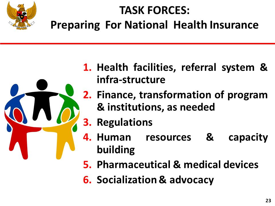 TASK FORCES: Preparing For National Health Insurance