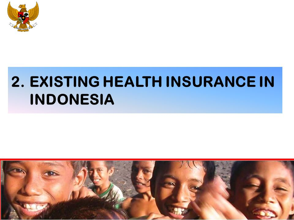 2. EXISTING HEALTH INSURANCE IN INDONESIA