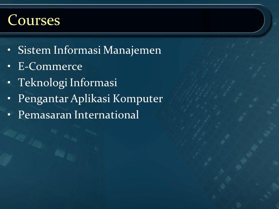 Courses Sistem Informasi Manajemen E-Commerce Teknologi Informasi