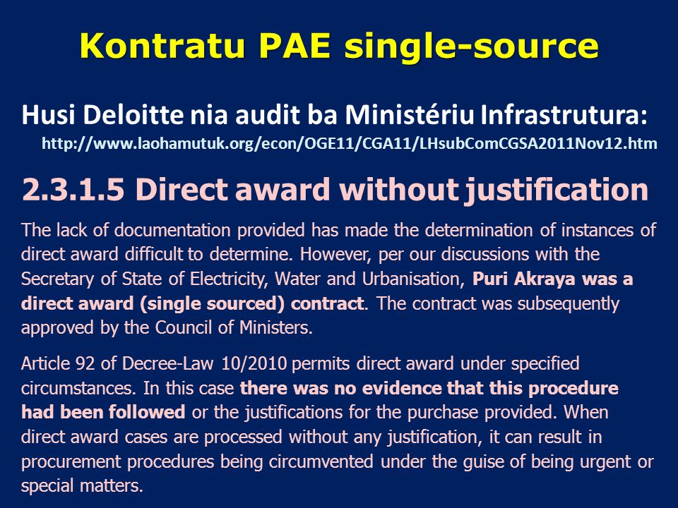Kontratu PAE single-source