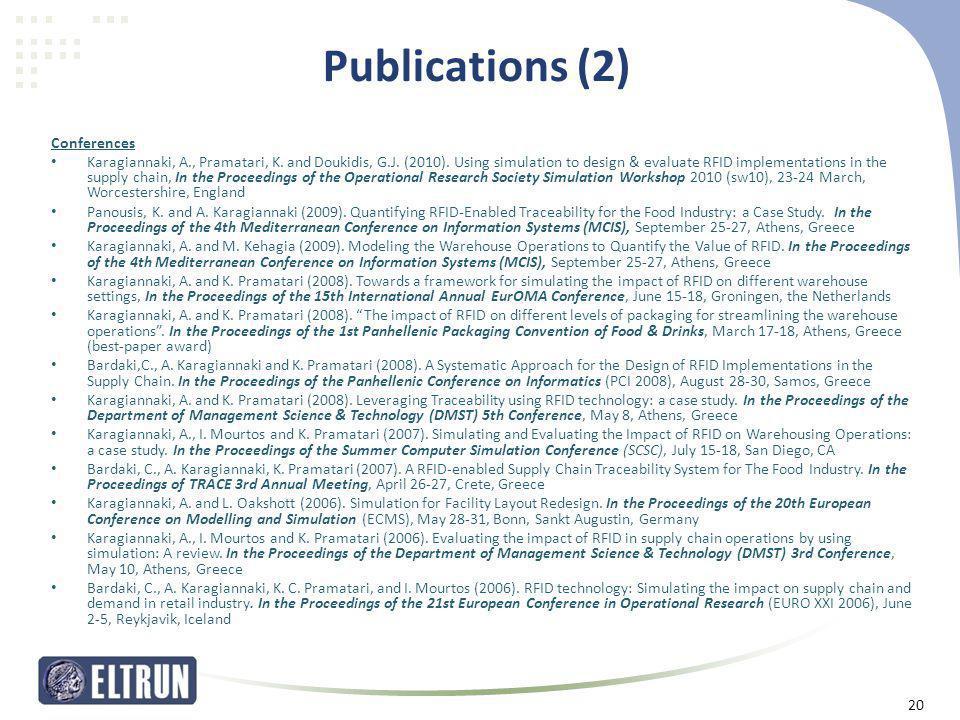 Publications (2) Conferences