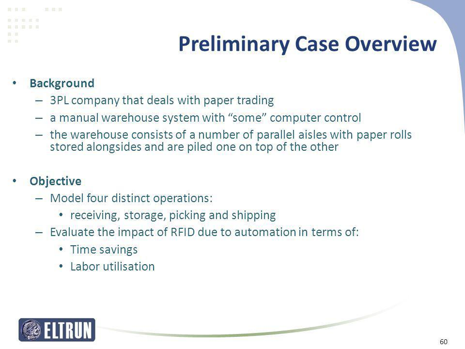 Preliminary Case Overview