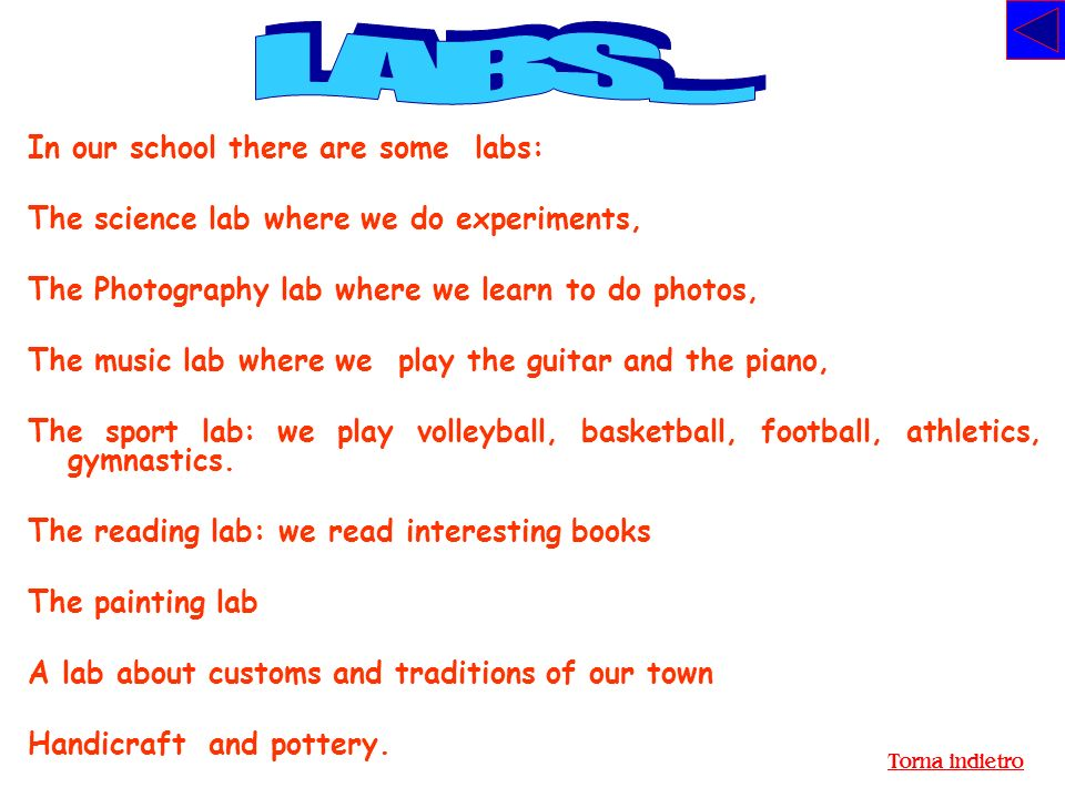 LABS.... In our school there are some labs: