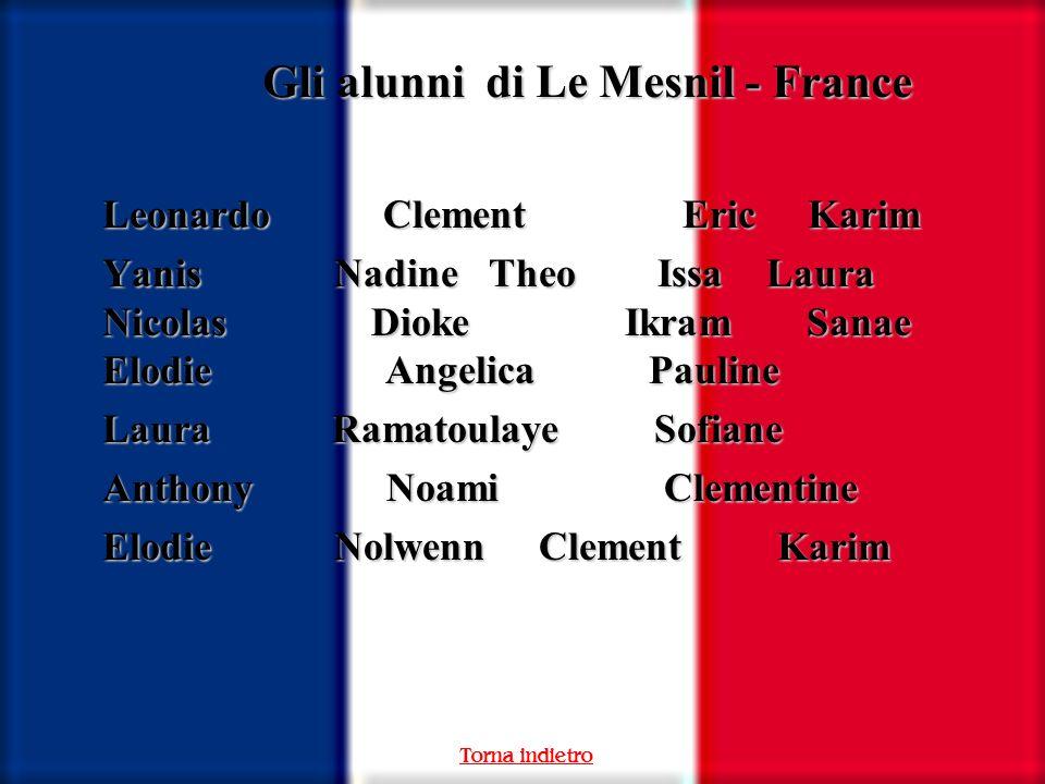 Gli alunni di Le Mesnil - France