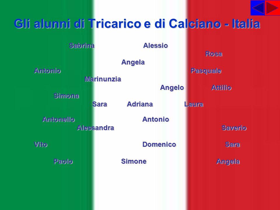 Gli alunni di Tricarico e di Calciano - Italia