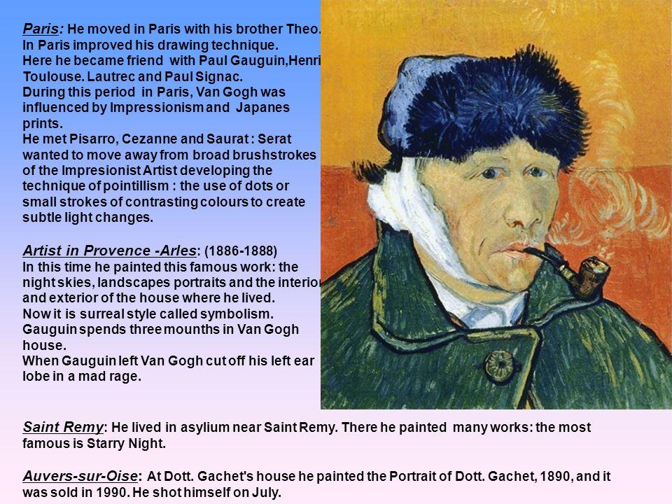 Artist in Provence -Arles: (1886-1888)