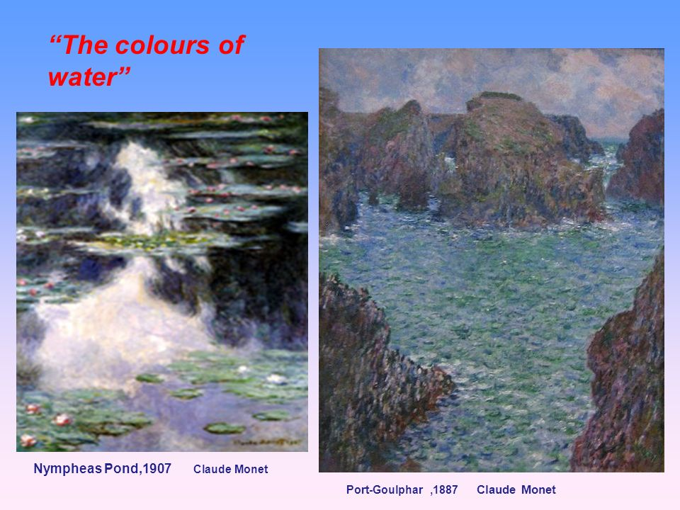 The colours of water Nympheas Pond,1907 Claude Monet
