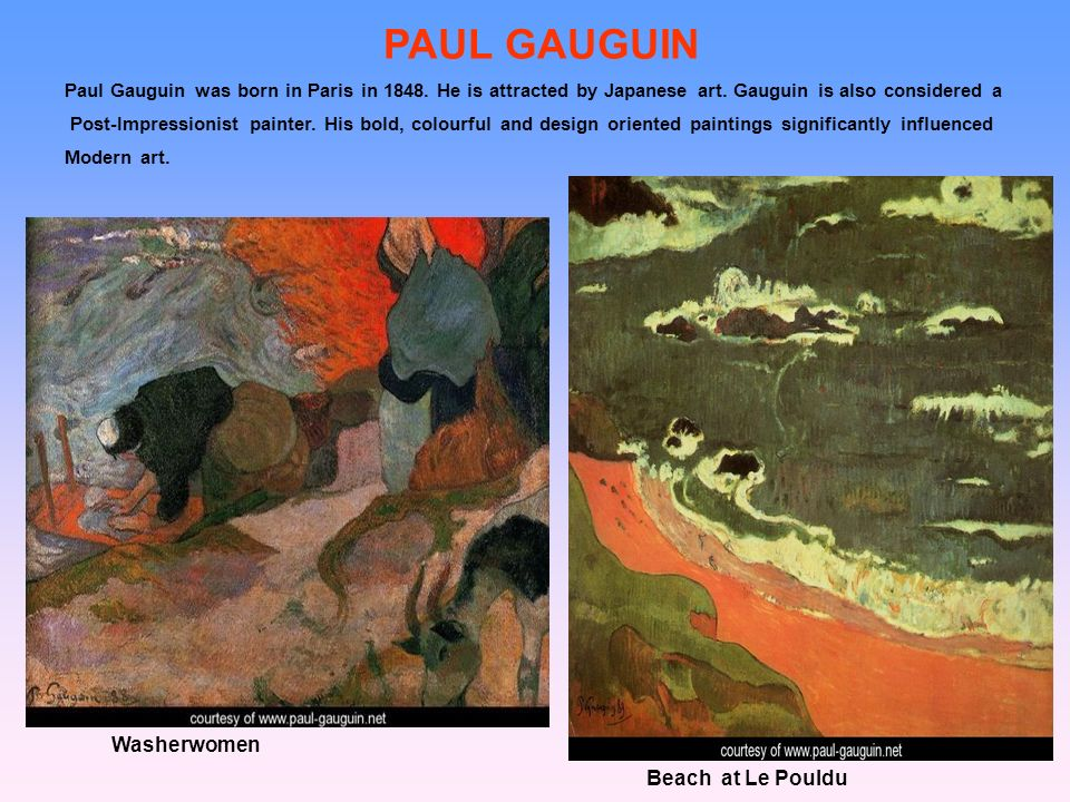 PAUL GAUGUIN Washerwomen Beach at Le Pouldu