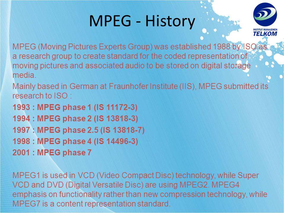 MPEG - History