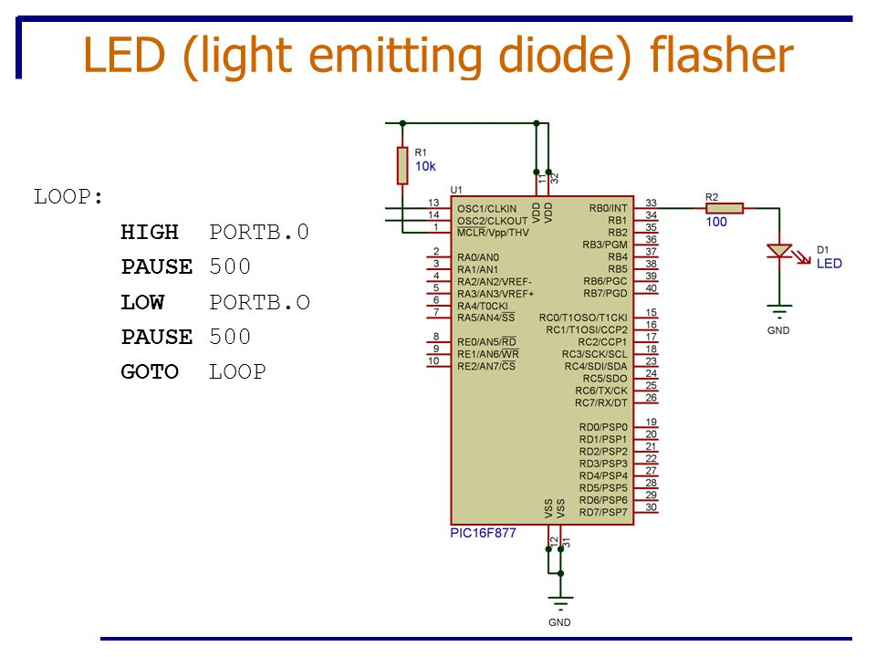 LED (light emitting diode) flasher