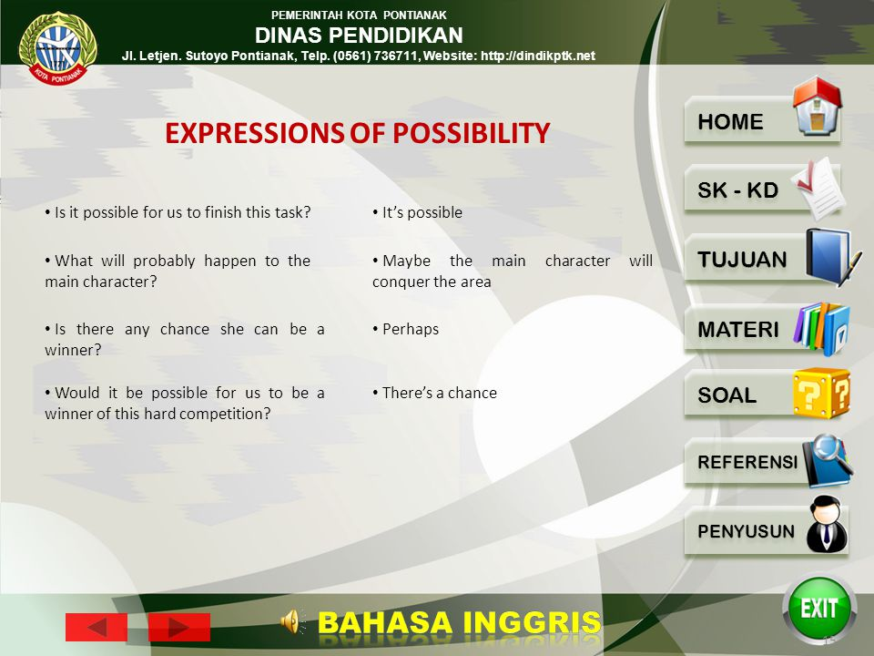 EXPRESSIONS OF POSSIBILITY