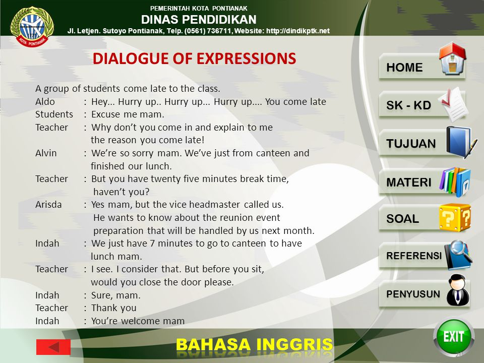 DIALOGUE OF EXPRESSIONS