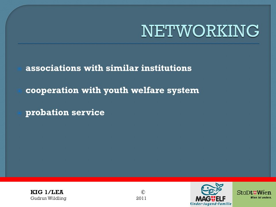 NETWORKING associations with similar institutions