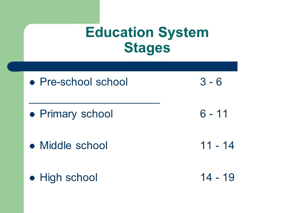 Education System Stages