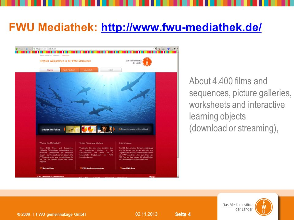 FWU Mediathek: http://www.fwu-mediathek.de/