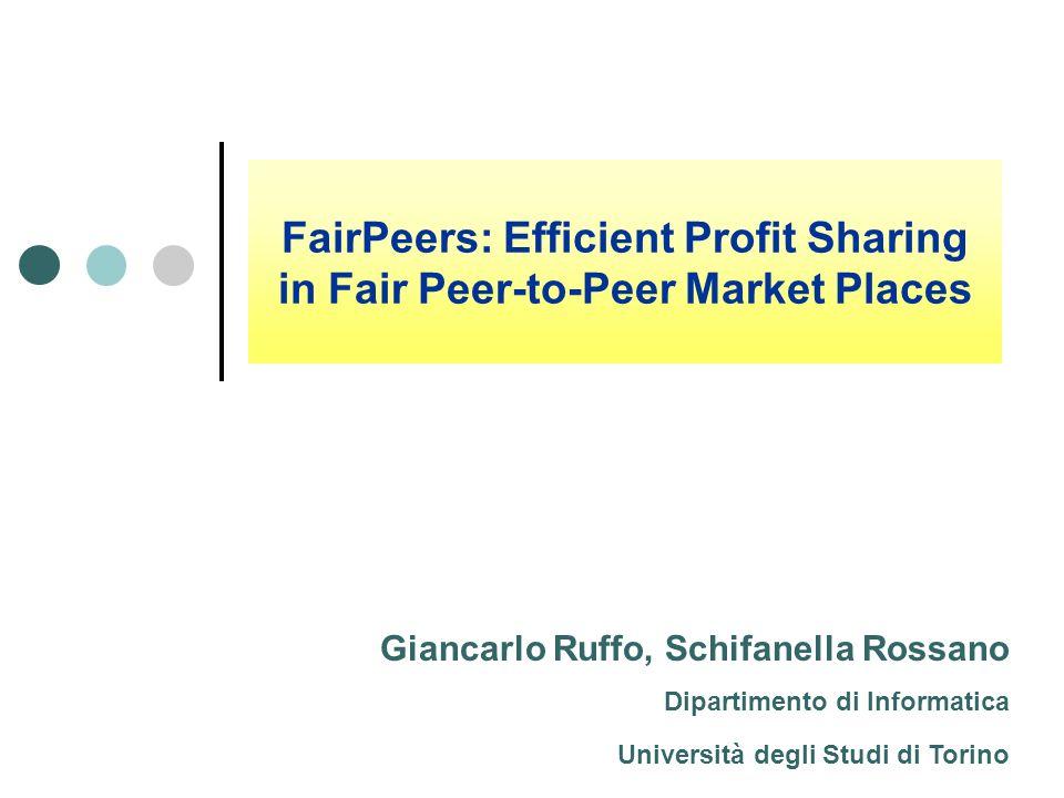 FairPeers: Efficient Profit Sharing in Fair Peer-to-Peer Market Places
