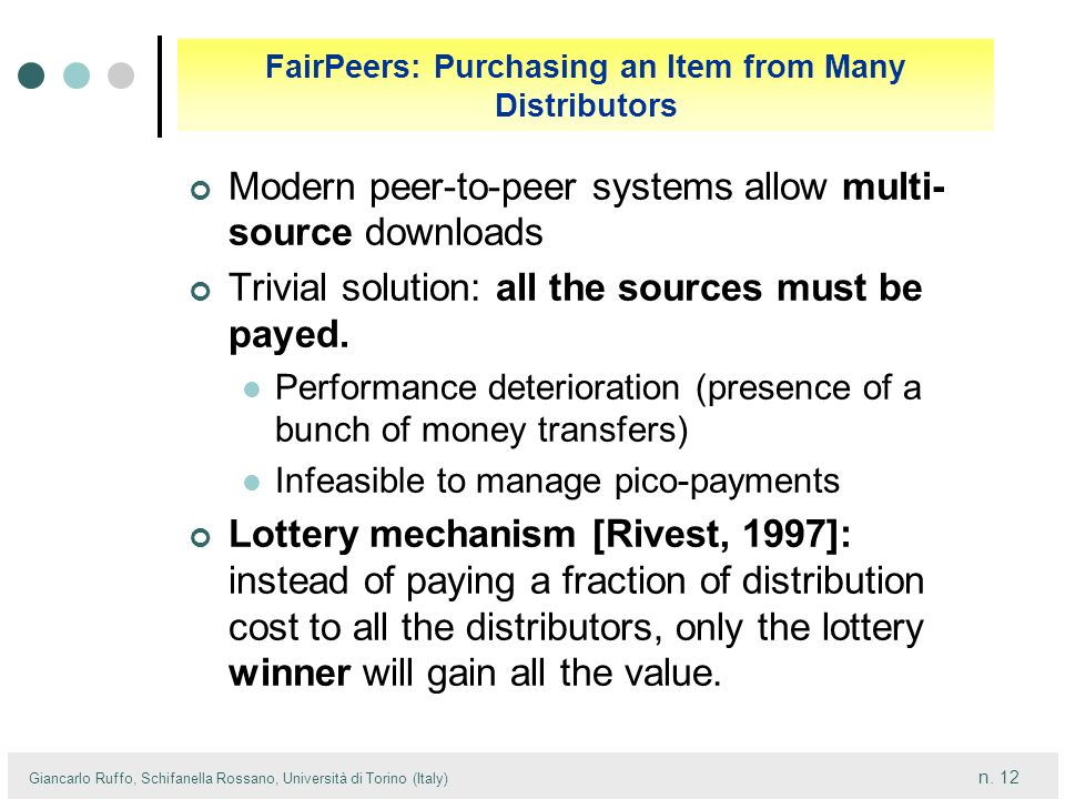 FairPeers: Purchasing an Item from Many Distributors
