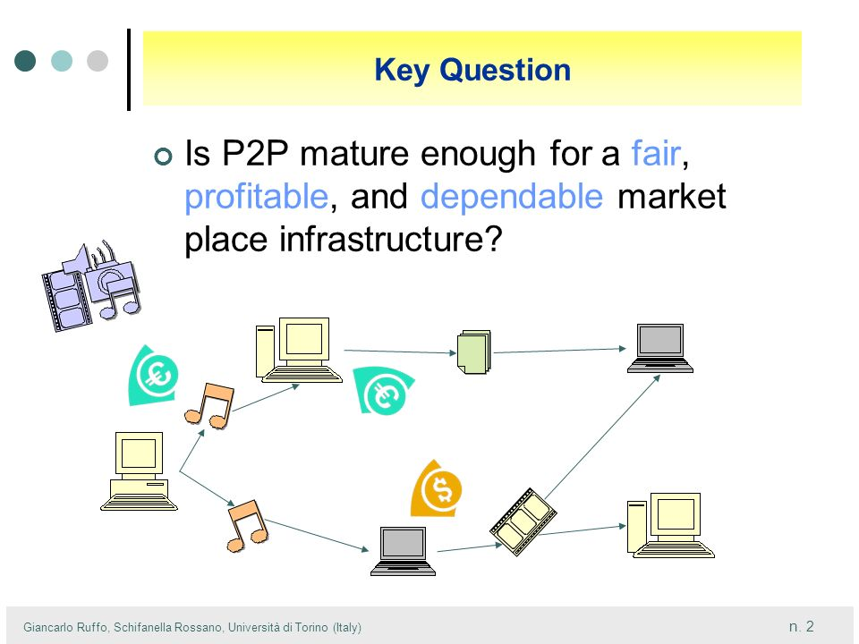 Key Question Is P2P mature enough for a fair, profitable, and dependable market place infrastructure