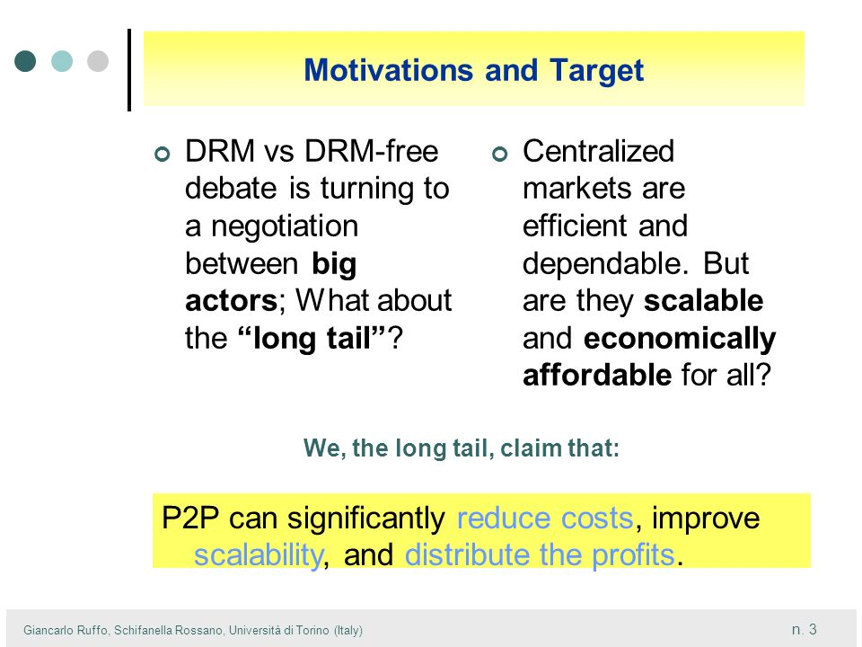 Motivations and Target