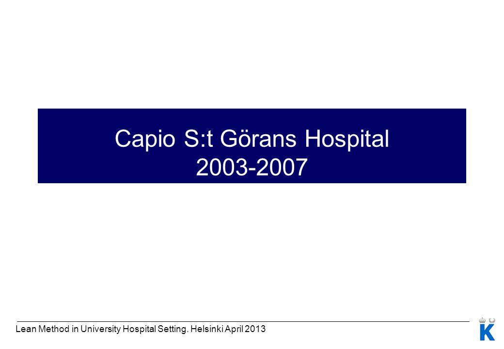 Capio S:t Görans Hospital 2003-2007