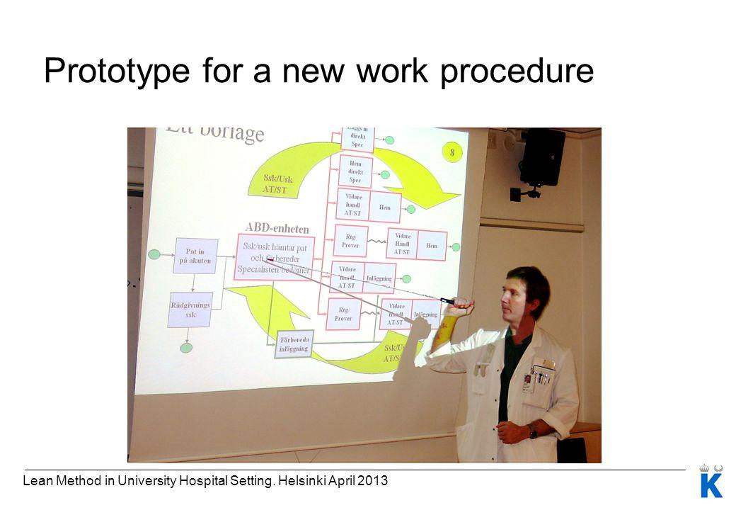 Prototype for a new work procedure