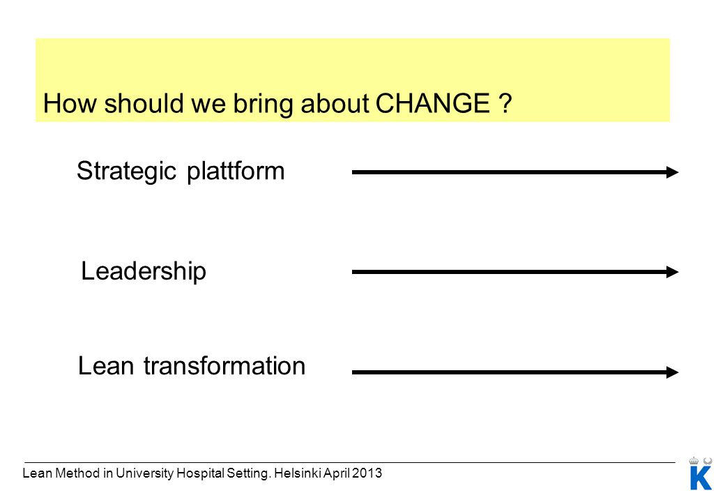 How should we bring about CHANGE