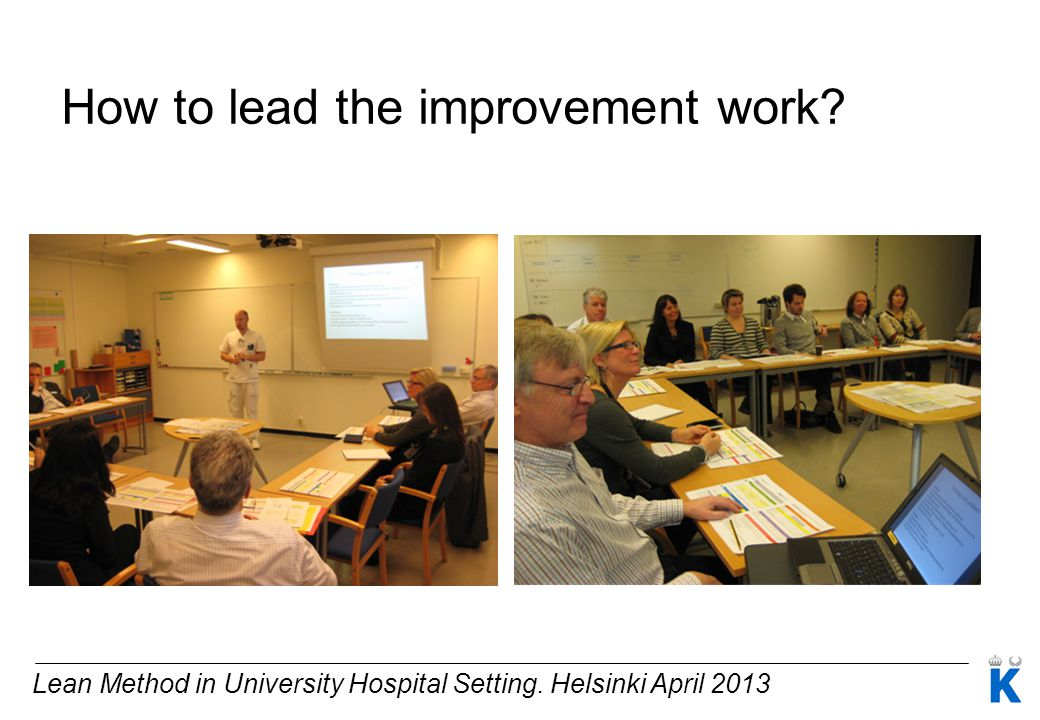 How to lead the improvement work