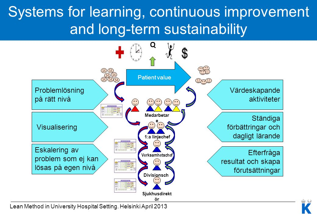 Systems for learning, continuous improvement and long-term sustainability