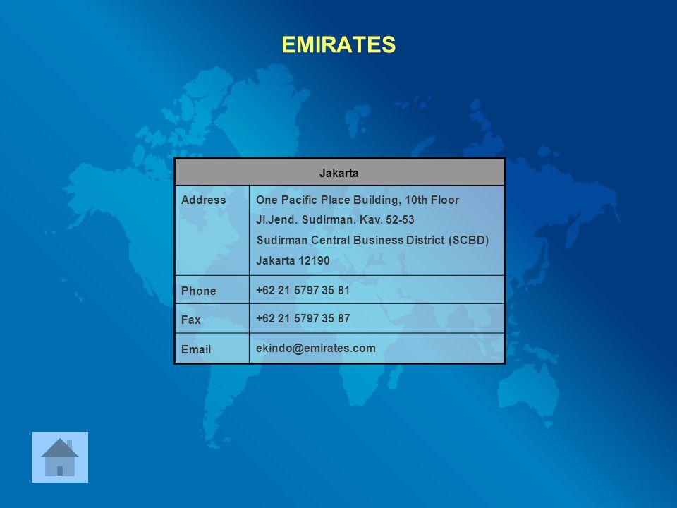 EMIRATES Jakarta Address