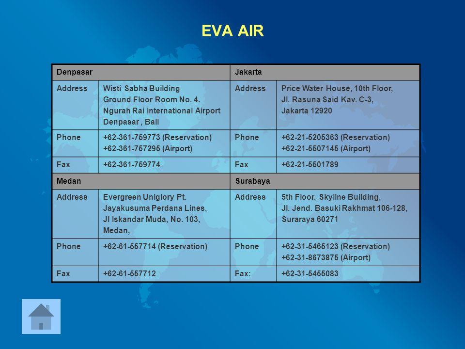 EVA AIR Denpasar Jakarta Address Wisti Sabha Building