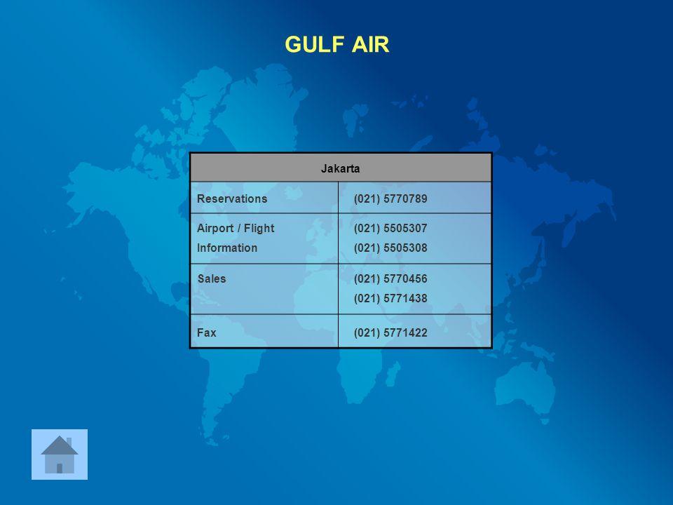 GULF AIR Jakarta Reservations (021) 5770789