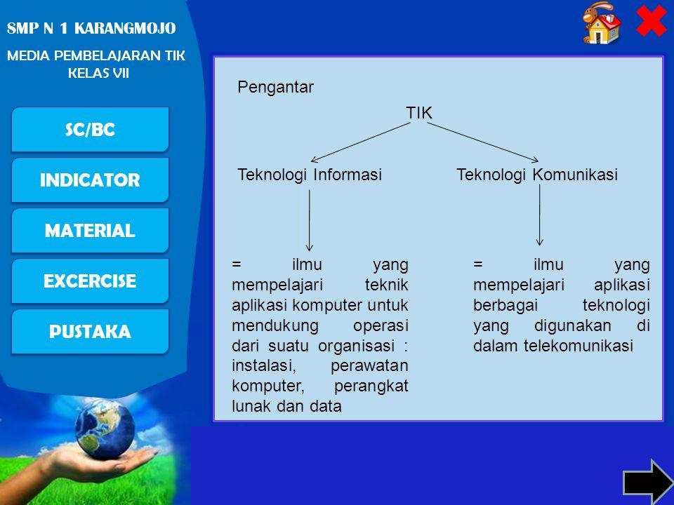 Pengantar TIK. Teknologi Informasi. Teknologi Komunikasi.