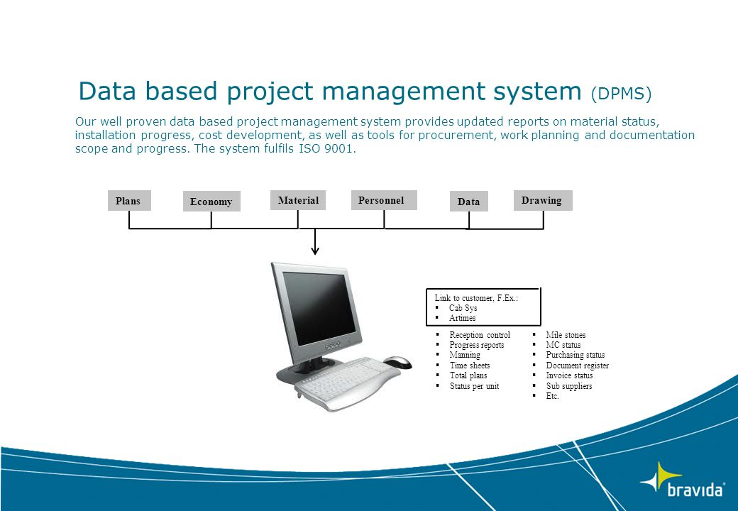 Data based project management system (DPMS)
