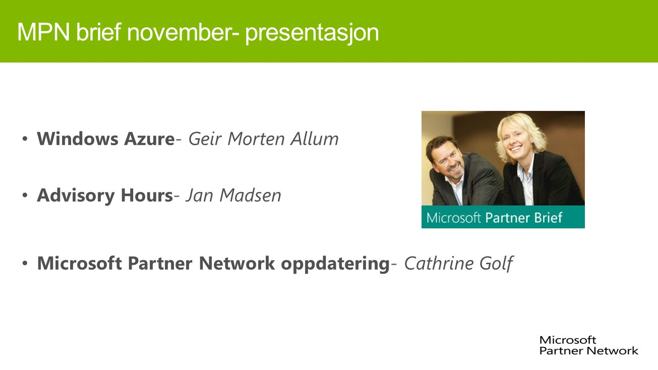 MPN brief november- presentasjon