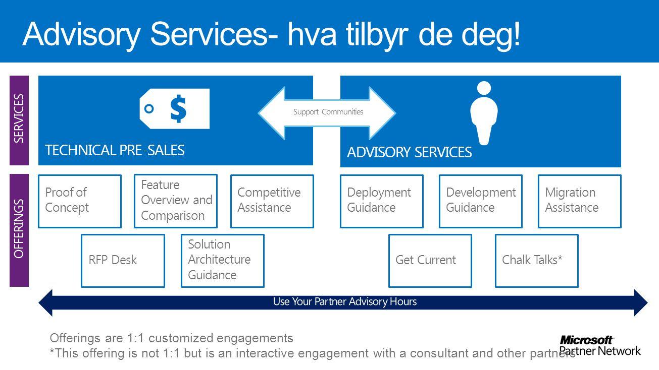 Advisory Services- hva tilbyr de deg!