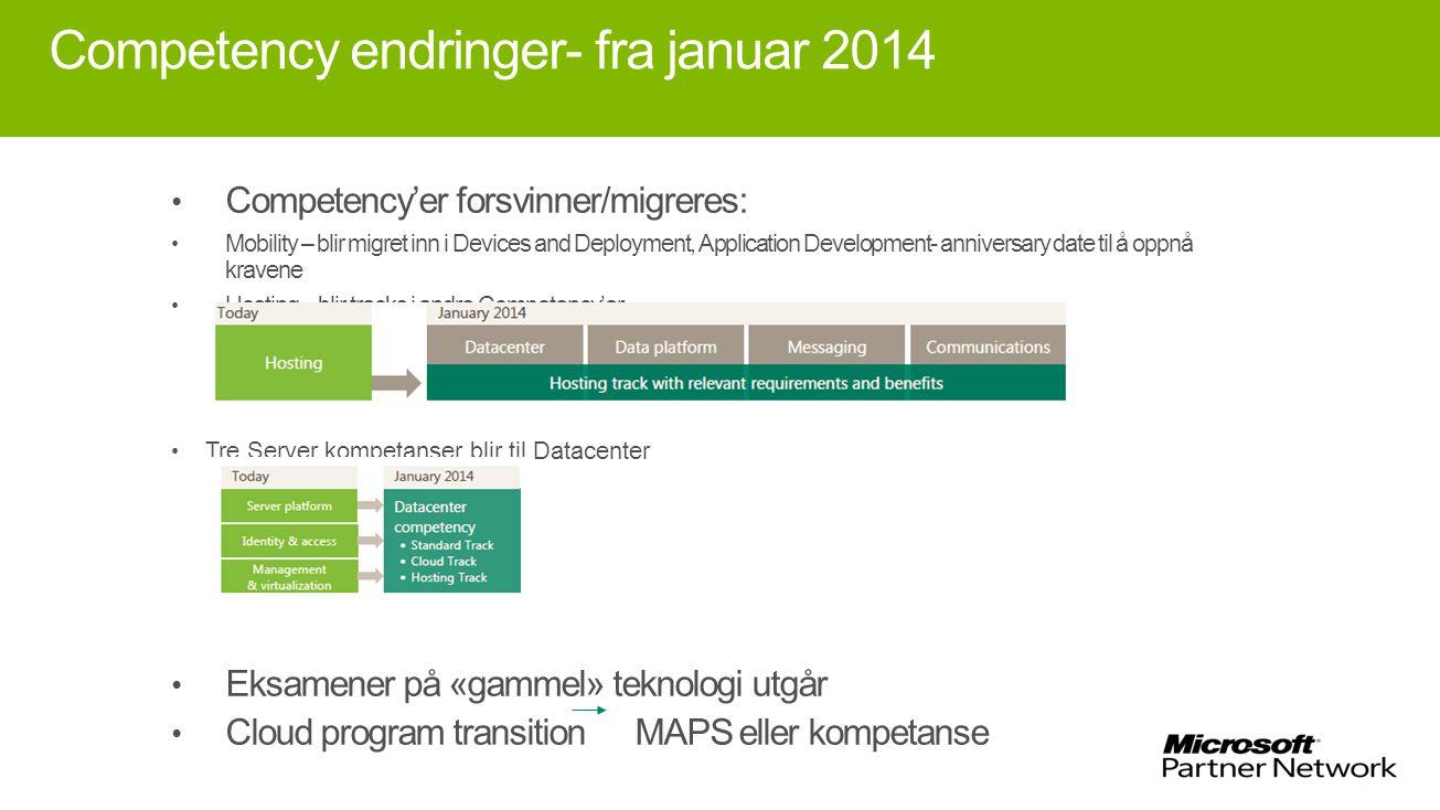 Competency endringer- fra januar 2014