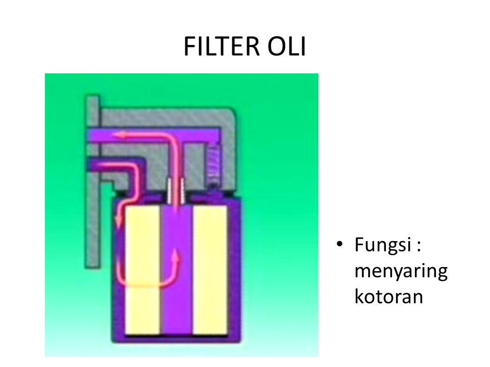 FILTER OLI Fungsi : menyaring kotoran